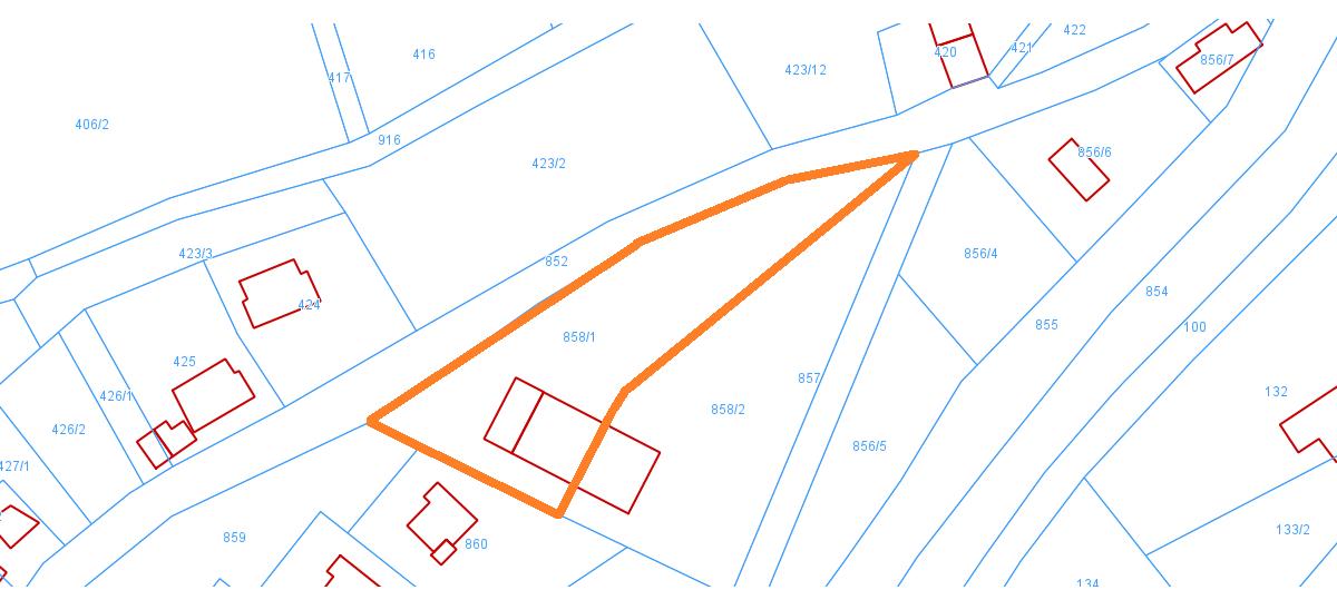 mapa - działka LW