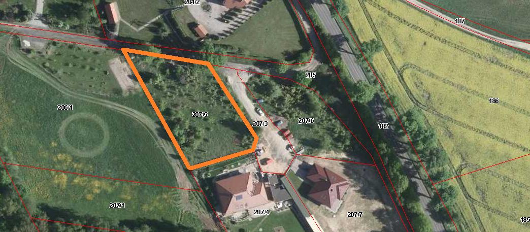 mapa-satelitarna-bolesławiec kosiby działka