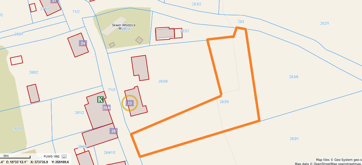 9 mapa - Włodzice W.